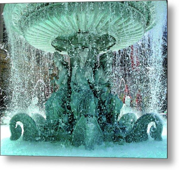 Lv Fountain Metal Print