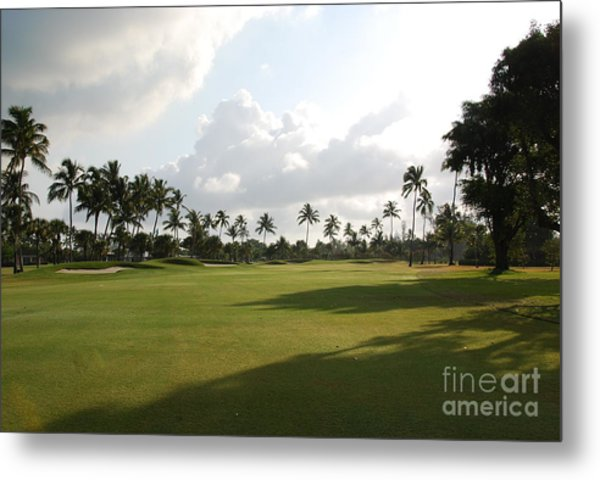 Lyford Cay Golf Club The Bahamas Metal Print