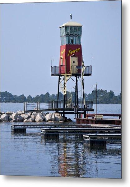 Lyman Harbor Lighthouse Metal Print