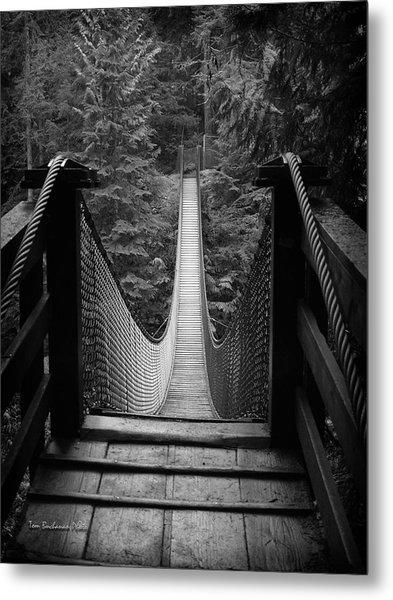 Lynn Canyon Bridge Metal Print