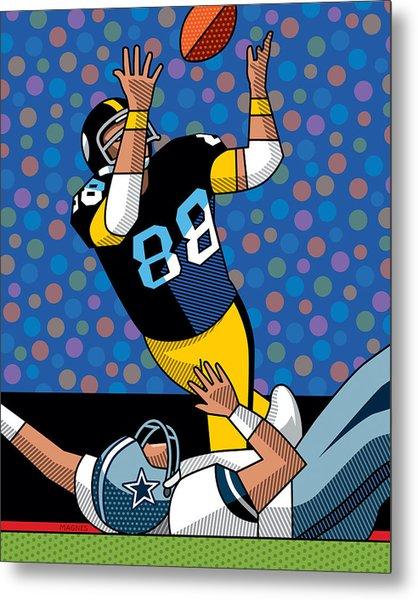 Lynn Swann Super Bowl X Metal Print