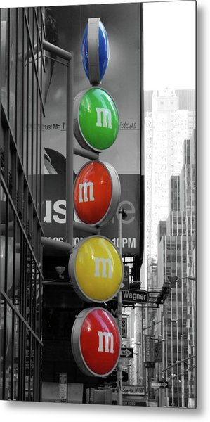 M And Ms In New York City Metal Print