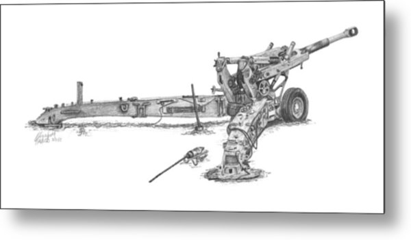 M198 Howitzer - Natural Sized Prints Metal Print