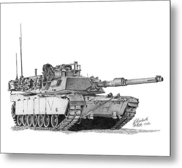 M1a1 C Company Commander Tank Metal Print