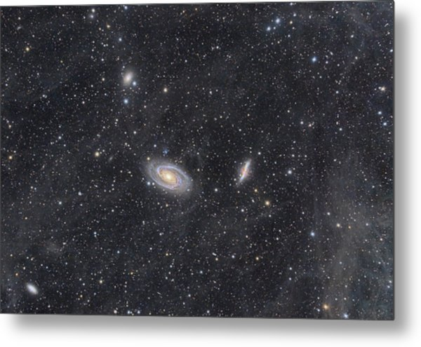 M81 And M82 Widefield Metal Print