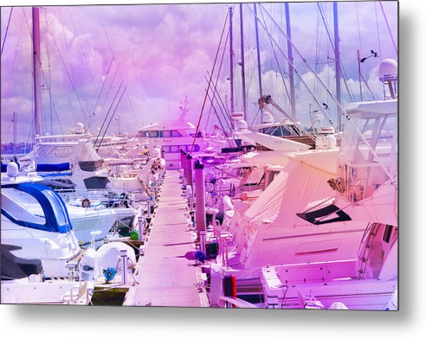 Marina In The Morning Glow Metal Print
