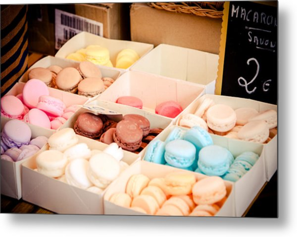 Metal Print featuring the photograph Macaroooons by Jason Smith