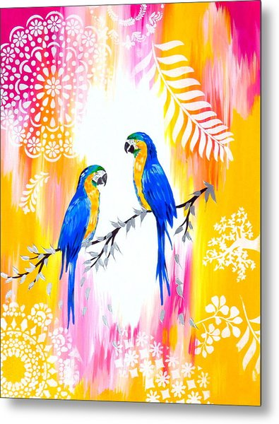 Macaws And Happiness Metal Print