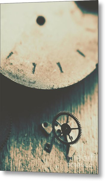 Machine Time Metal Print