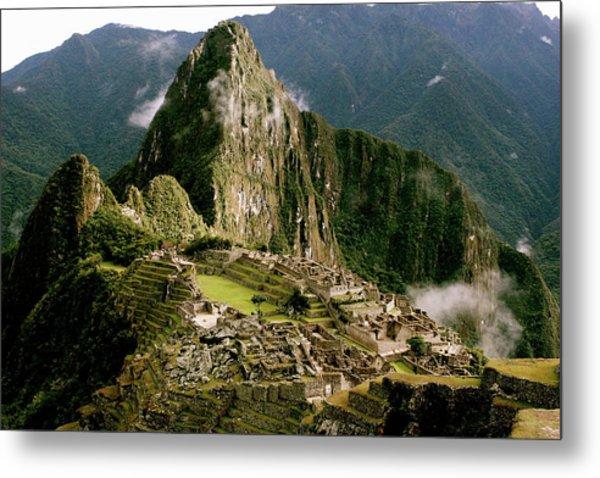 Machu Picchu At Sunrise Metal Print