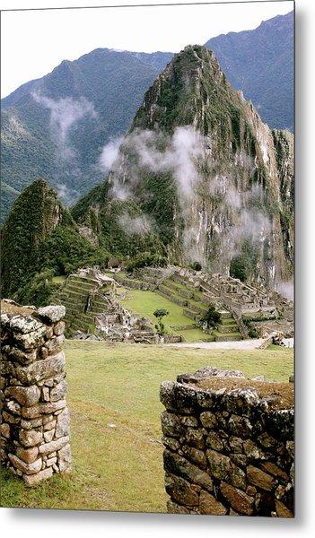 Machu Picchu In The Morning Light Metal Print