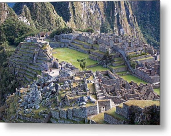 Machu Picchu Inca Ruins Metal Print