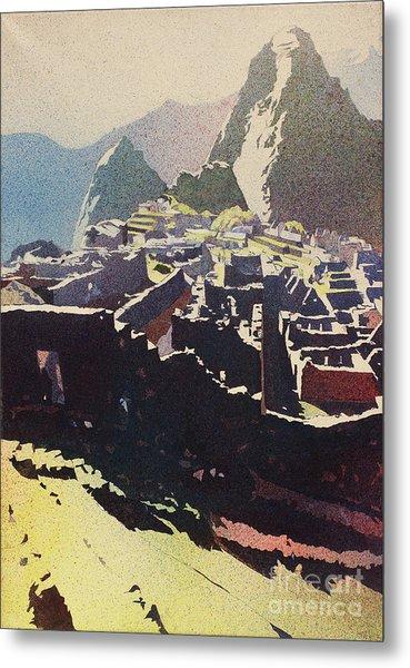 Machu Picchu Morning Metal Print