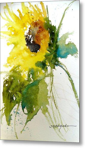Maci's Sunflower Metal Print
