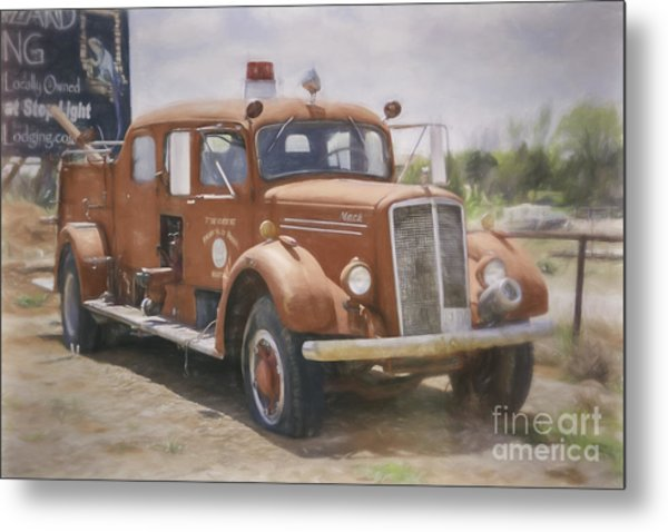 Mack Fire Truck  Metal Print