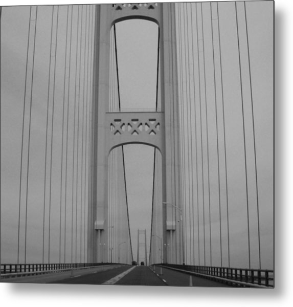Mackinac Bridge Metal Print by Beverly Cazzell