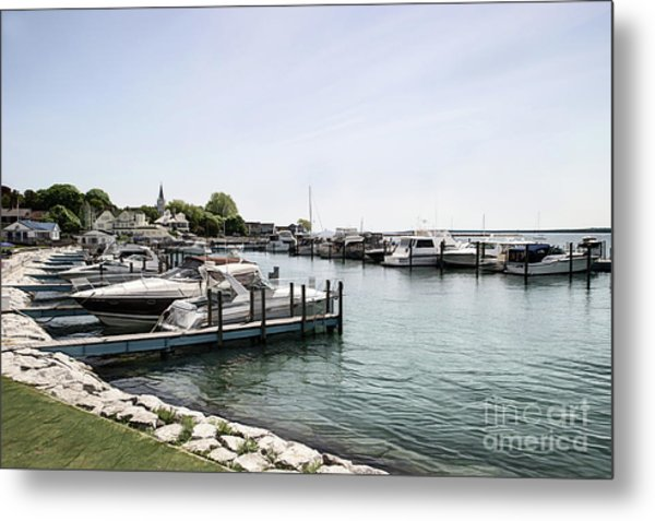 Mackinac Marina Art Metal Print