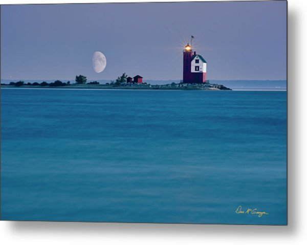 Metal Print featuring the photograph Mackinac Moon by Dan McGeorge
