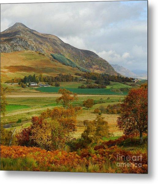 Macpherson Autumn - The Clan Macphersons Seat  Metal Print by John Kelly