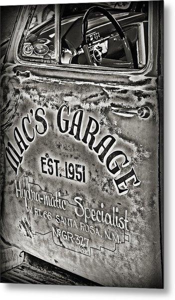 Macs Garage Metal Print