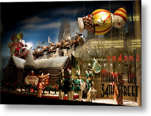 Macy's Miracle On 34th Street Christmas Window Metal Print