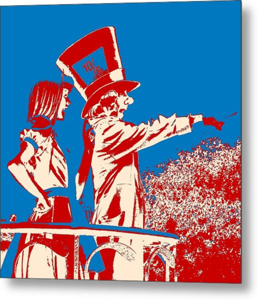 Mad As A Hatter Metal Print by Sharon Cross