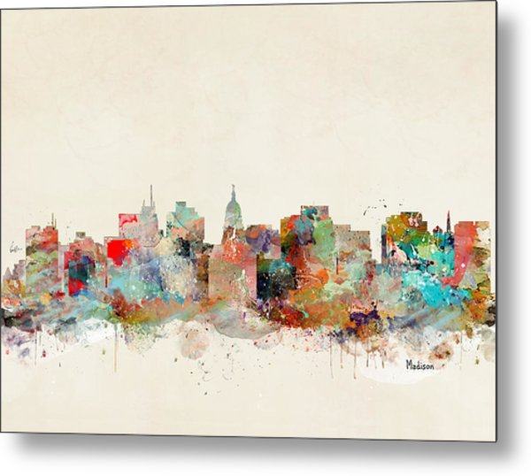 Madison City Skyline Metal Print
