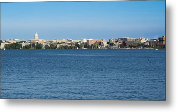 Madison Skyline From Picnic Point Metal Print