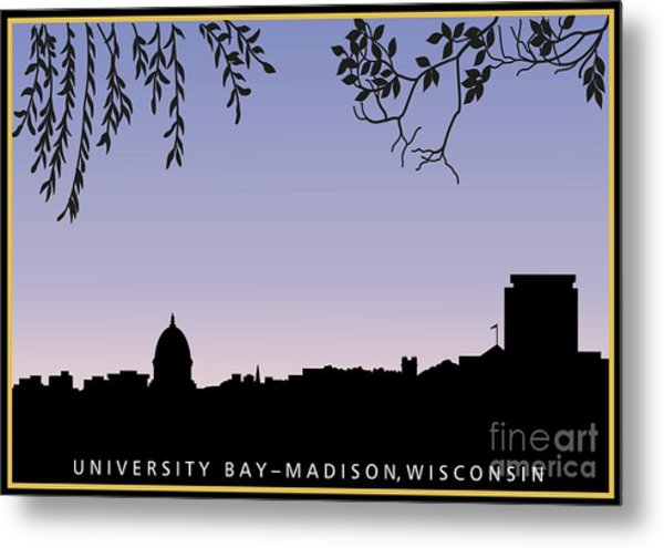 Lake mendota art pixels madison wi skyline across university bay at sunrise metal print publicscrutiny Choice Image