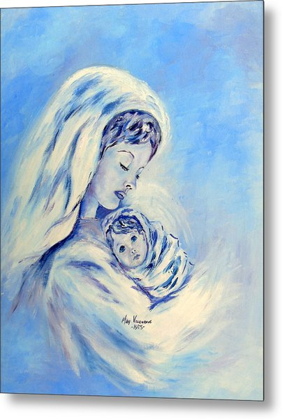 Madonna And Child By May Villeneuve Metal Print