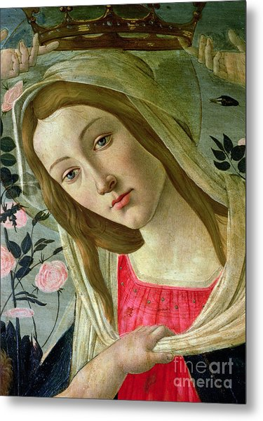 Madonna And Child Crowned By Angels Metal Print