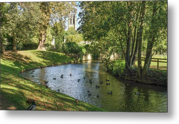 Metal Print featuring the photograph Magdalen From The River Cherwell by Joe Winkler
