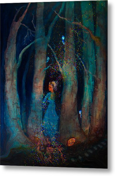 Magic Birch Trees Metal Print by Patricia Motley