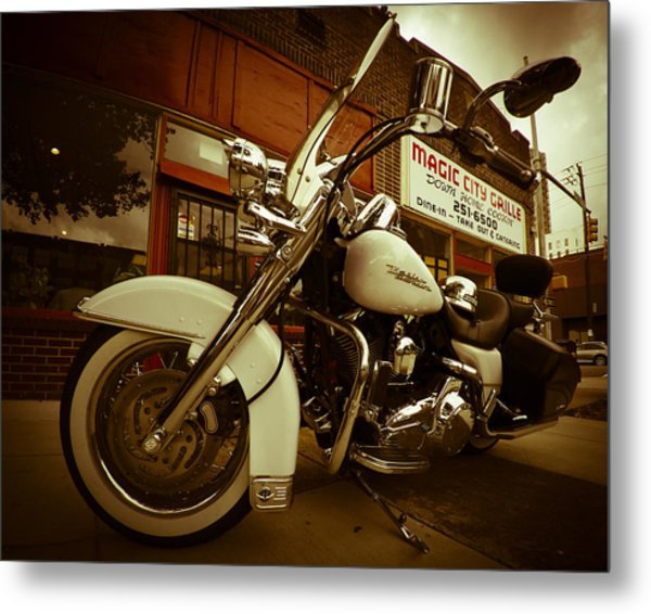 Magic City Grille Metal Print