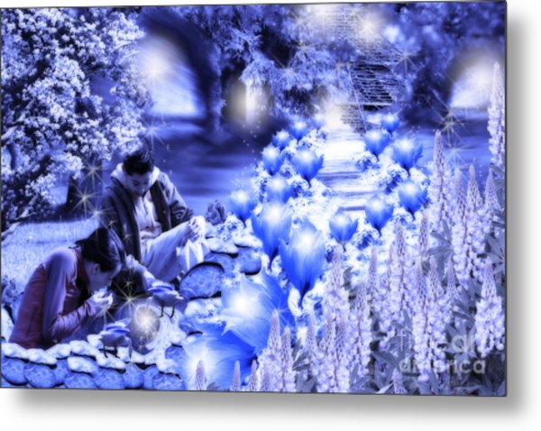 Magic Flower Path Metal Print