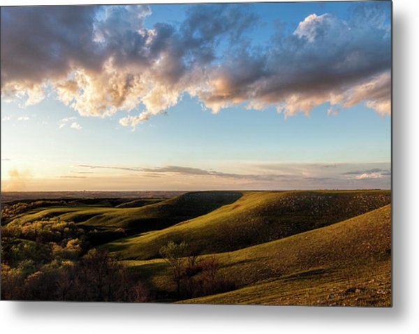 Magic Hour In The Flint Hills Metal Print