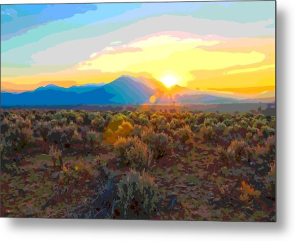 Magic Over Taos Metal Print