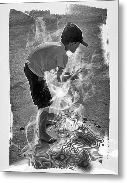 Magic Sand Metal Print