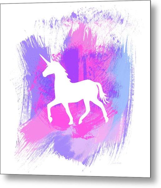 Magic Unicorn 1- Art By Linda Woods Metal Print