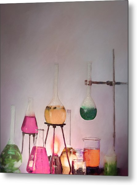 Magical Beakers Metal Print