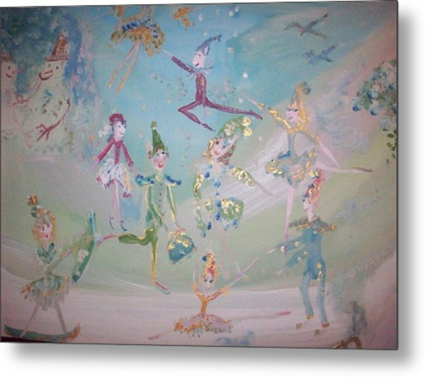 Magical Elf Dance Metal Print