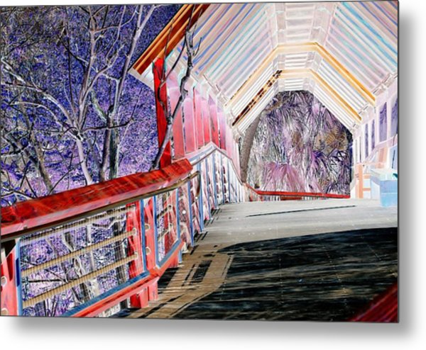 Magical Mystery Bridge Metal Print