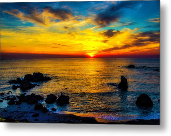 Magical Pacific Sunset Metal Print