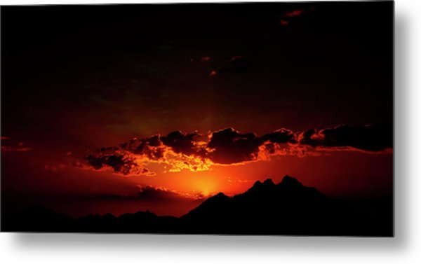 Magical Sunset In Africa 2 Metal Print