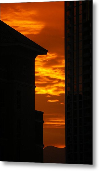 Magical Sunset Metal Print by Paula Strahan