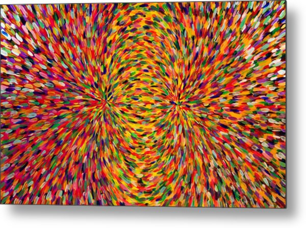 Magnetic Lines 2 Metal Print by Patrick OLeary
