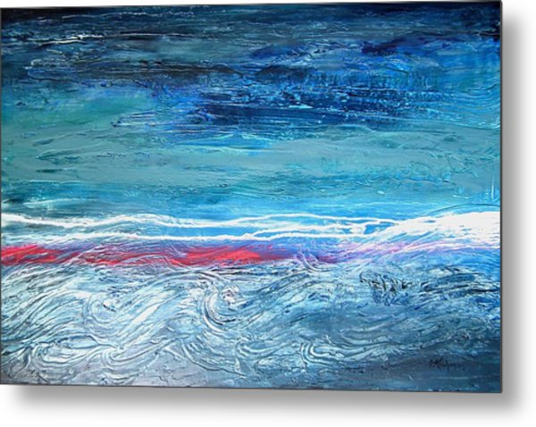 Magnificent Morning Abstract Seascape Metal Print