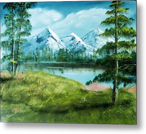 Magnificent Vista - Mountain Landscape Metal Print by Barry Jones