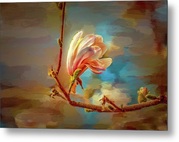Metal Print featuring the digital art Magnolia Abs #h4 by Leif Sohlman