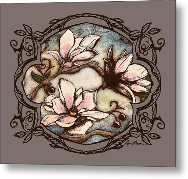 Magnolia Branch II Metal Print